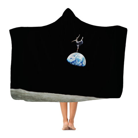 EarthRise Ballerina Classic Adult Hooded Blanket