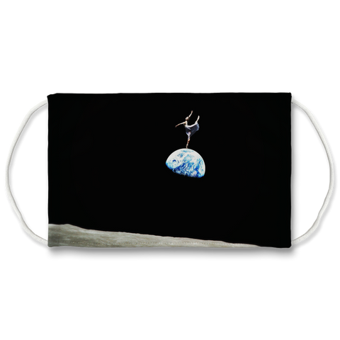 EarthRise Ballerina Sublimation Face Mask