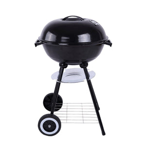 Trolley 17'' Metal Charcoal BBQ Grill Pit Outdoor Camping Cooker - Smoki Grills