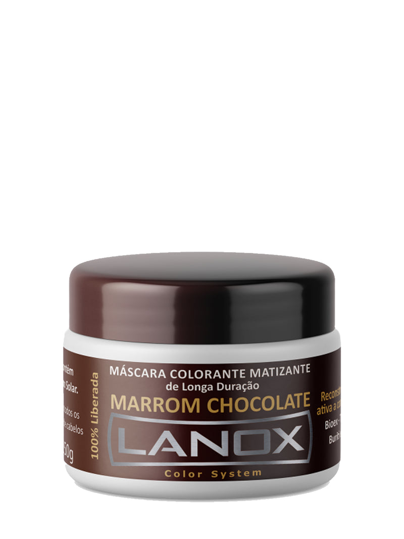 Máscara Colorante Marrom Chocolate Color System Lanox - 250g