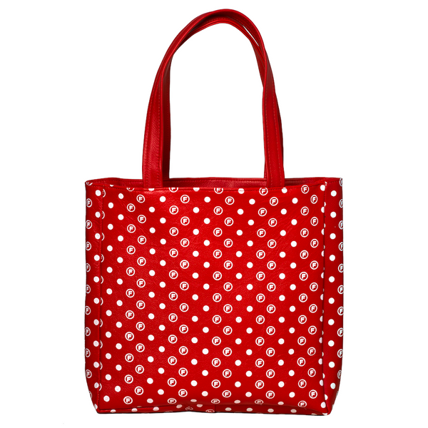 OriginalFani®design Leather Fan-dana™ Tote Bag (Red)