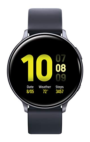 Samsung Galaxy Watch Active2 W/ Enhanced Sleep Tracking Analysis, Auto Workout Tracking, and Pace Coaching (44mm, GPS, Bluetooth), Aqua Black - US Version with Warranty - wiihuu
