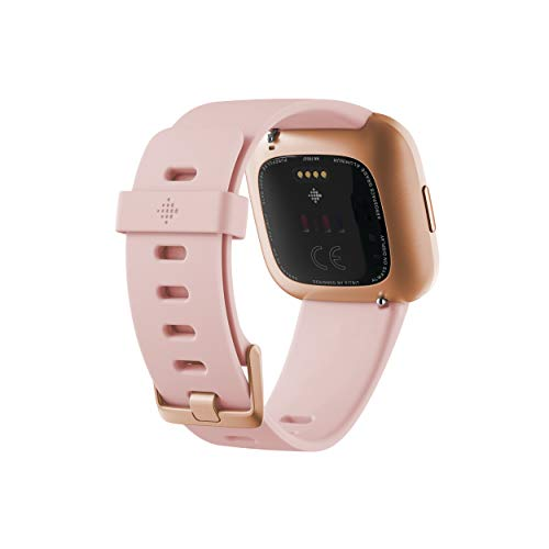 Fitbit Versa 2 Health and Fitness Smartwatch with Heart Rate, Music, Alexa Built-In, Sleep and Swim Tracking, Petal/Copper Rose, One Size (S and L Bands Included) - wiihuu