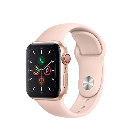 Apple Watch Series 5 (GPS + Cellular, 40mm) - Gold Aluminum Case with Pink Sport Band - wiihuu