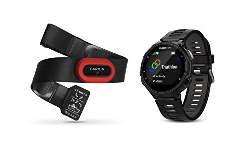Garmin Forerunner 735XT Bundle, Multisport GPS Running Watch with Heart Rate, Includes HRM-Run Monitor, Black/Gray - wiihuu