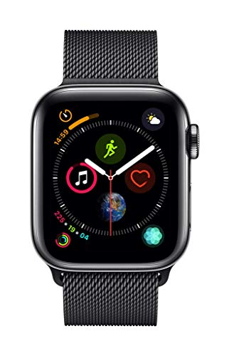 Apple Watch Series 4 (GPS + Cellular, 40mm) - Space Black Stainless Steel Case with Space Black Milanese Loop - wiihuu