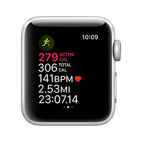 Apple Watch Series 3 (GPS, 38mm) - Silver Aluminum Case with White Sport Band - wiihuu