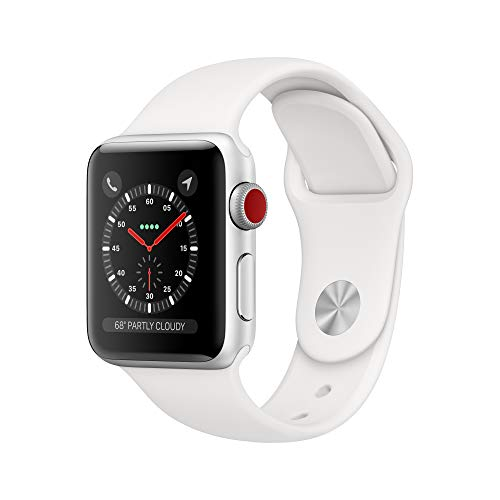 Apple Watch Series 3 (GPS + Cellular, 38mm) - Silver Aluminum Case with White Sport Band - wiihuu