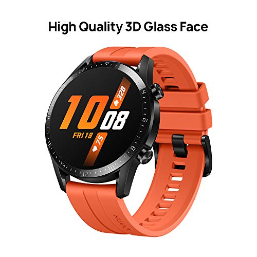 HUAWEI Watch GT 2 2019 Bluetooth SmartWatch, Longer Lasting 2 Weeks Battery Life, Waterproof, Compatible with iPhone and Android, 46mm No Warranty International Version (Sunset Orange) - wiihuu