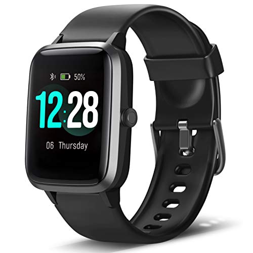 "LETSCOM Smart Watch Fitness Tracker Heart Rate Monitor Step Calorie Counter Sleep Monitor Music Control IP68 Water Resistant 1.3"" Color Touch Screen Activity Tracking Pedometer for Women Men Kids - wiihuu"