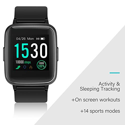 BUDAOLIU Updated Version Smart Watch for Android and iOS Phone,Activity Fitness Tracker with Heart Rate Monitor Pedometer Sleep Tracker,Waterproof Smartwatch Compatible with iPhone Samsung (Black) - wiihuu