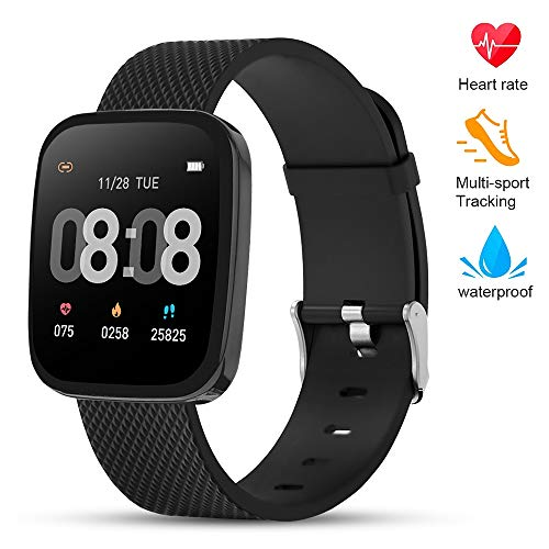 TEZER Smart Watch Fitness Tracker - Activity Tracker with Heart Rate Monitor, IP67 Waterproof Smart Bracelet with Sleep Monitor, Pedometer Smartwatch with Step Calorie Counter for Women Men - wiihuu
