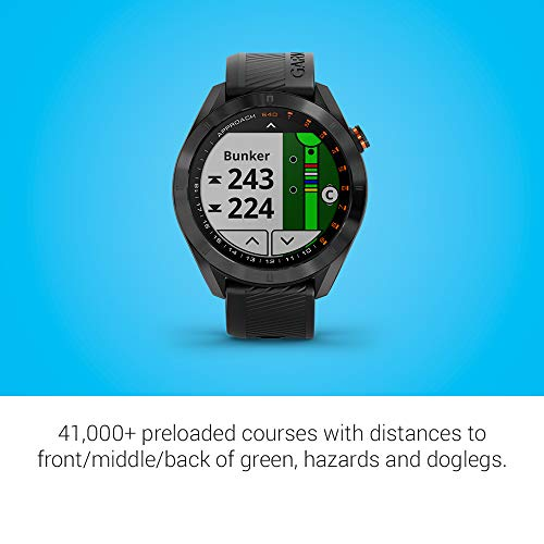 Garmin Approach S40 Bundle, Stylish GPS Golf Smartwatch, Includes Three CT10 Club Trackers, Black - wiihuu