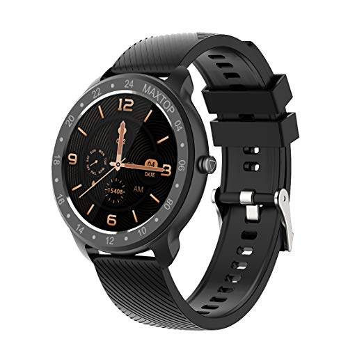 maxtop T9 Smart Watch - Whole Touch Screen IP68 Waterproof Health and Sports Android Smart Watch for Men and Women Compatible with iPhone and Android Phones - wiihuu