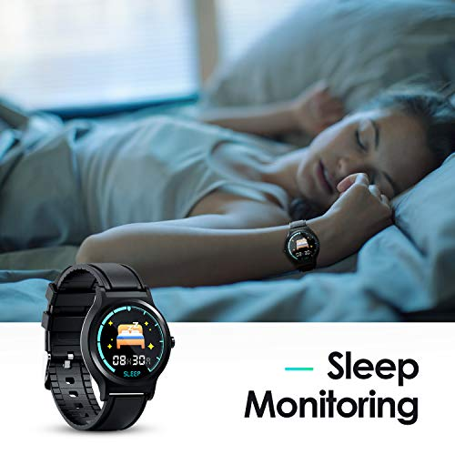 GOKOO Smart Watch Activity Fitness Tracker with Heart Rate Blood Pressure Sleep Monitor Remote Camera Music Control Reminder Calorie Stopwatch Full-Touch Color Screen Smartwatch Black - wiihuu