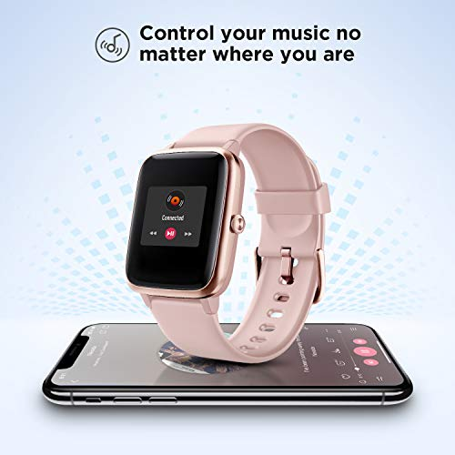 "LETSCOM Smart Watch Fitness Tracker Heart Rate Monitor Step Calorie Counter Sleep Monitor Music Control IP68 Water Resistant 1.3"" Color Touch Screen Activity Tracking Pedometer for Women Men - wiihuu"
