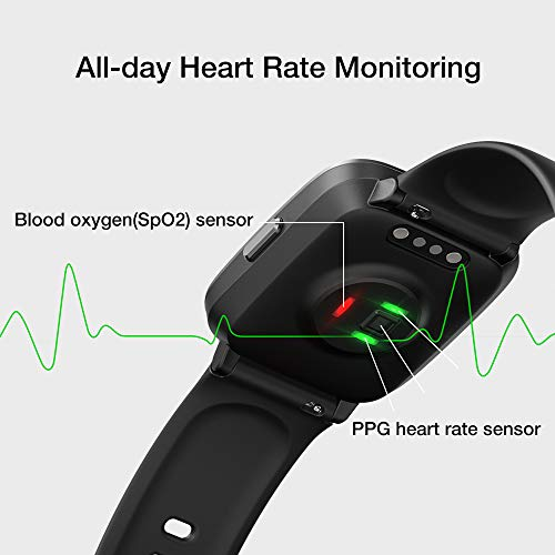 UMIDIGI Smart Watch UFit Health and Fitness Tracker, with SpO2 and Heart Rate Monitor Activity Tracker, Smartwatch for Android and iOS Phone - wiihuu