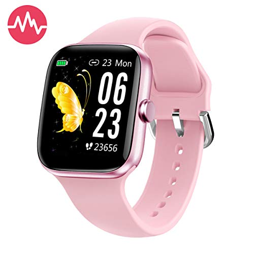 "Smart Watch for Men Women,Fitness Tracker with 1.54"" Full Touch Color Screen ,IP67 Waterproof Pedometer Smartwatch with Pedometer Heart Rate Monitor Sleep Tracker for Android and iOS Phones - wiihuu"