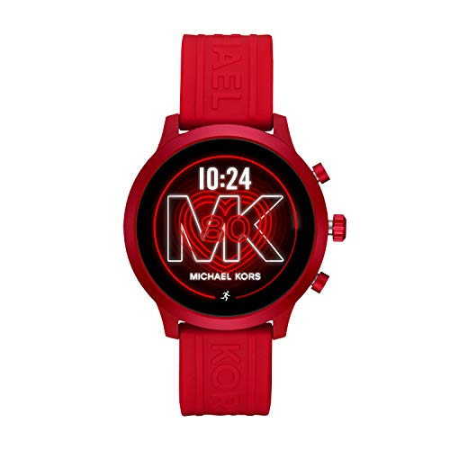 Michael Kors Access  MKGO Touchscreen Aluminum and Silicone Smartwatch, Red-MKT5073 - wiihuu
