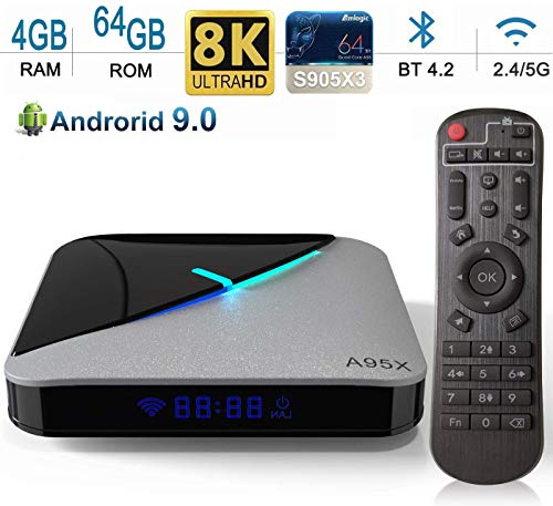 DOOK Android 9.0 TV Box 4GB RAM 64GB ROM, A95X F3 Air TV Box Android Amlogic S905X3 Quad-core Cortex-A55 Dual-WiFi 2.4GHz/5GHz, 3D Ultra HD 8K H.265 USB 3.0 BT 4.2 Smart TV Box - wiihuu