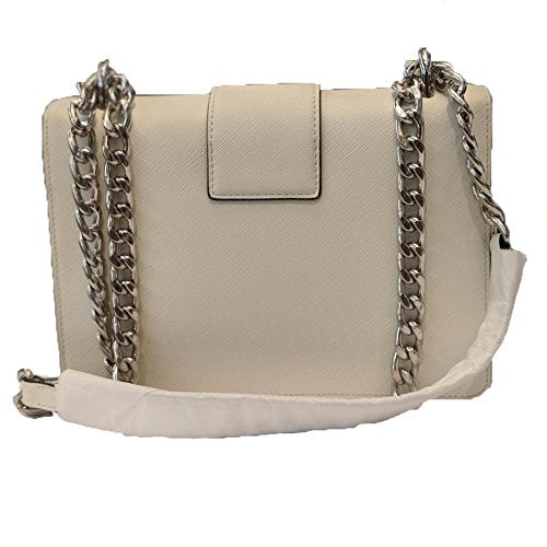 Prada White Saffiano Designer Leather Crossbody Bag for Women 1BD034 - wiihuu