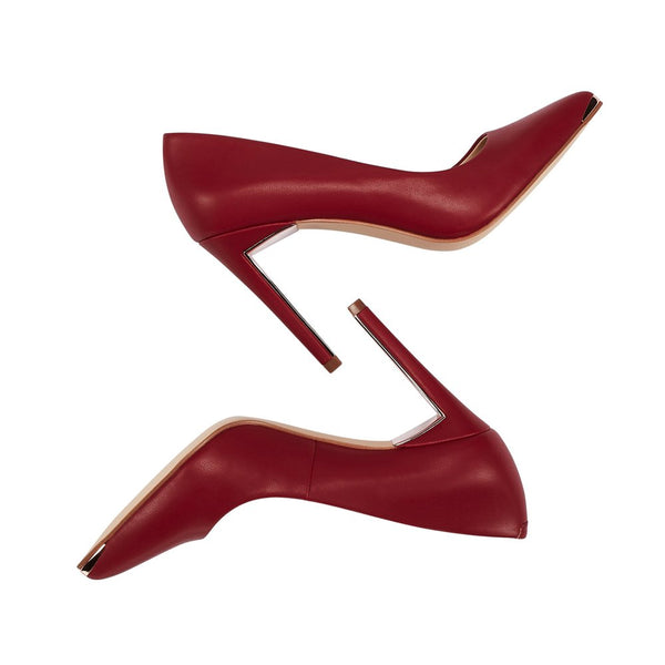 JENN ARDOR Women's Closed Pointed Toe Pumps Stiletto High Heels Office Lady Wedding Party Dress Heeded Shoes Red 6.5 (9.2in) - wiihuu