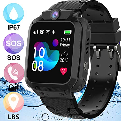 Kids Smart Watch, TKSTAR Waterproof Smart Watch for Kids GPS Kids Phone Smart Watches with SOS Two-Way Call Voice Chatting Christmas Birthday Gift Girls Boys - wiihuu