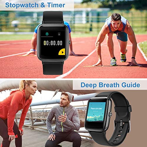 Willful Smart Watch for Android Phones and iOS Phones Compatible iPhone Samsung, IP68 Swimming Waterproof Smartwatch Fitness Tracker Fitness Watch Heart Rate Monitor Smart Watches for Men Women Black - wiihuu