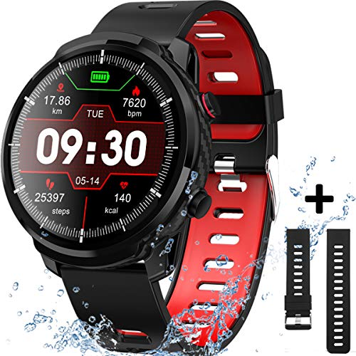 Smart Watch for Android iOS Phones, IP68 Waterproof Smart Watch, Fitness Tracker Smartwatch with Blood Pressure Heart Rate and Sleep Monitor, Smartwatch Compatible iPhone Android Phone for Men Women. - wiihuu