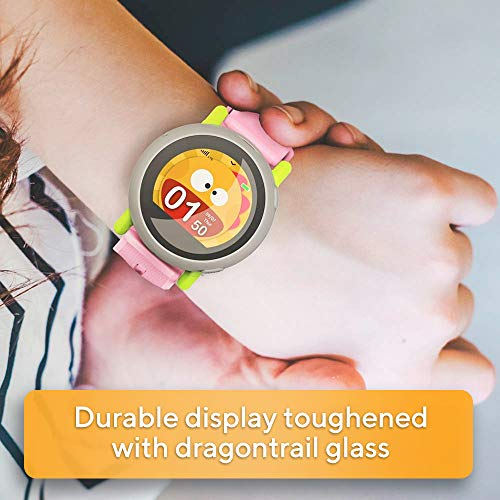 Coolpad Dyno - Kids Smartwatch with Preloaded SIM (4G LTE), GPS Location Tracking, 2-Way Voice Calls and Text, Safety Geofencing, 2.5 Days Battery Life, Blue and Pink Bands Included - wiihuu