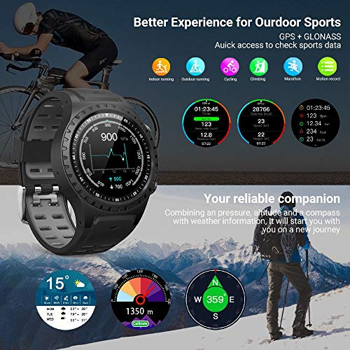 Smart Watch for Android Phones Naturehike M1 with Heart Rate and Sleep Monitor GPS Activity Tracker Watch IP67 Waterproof Smartwatch Mens Smart Watches - wiihuu