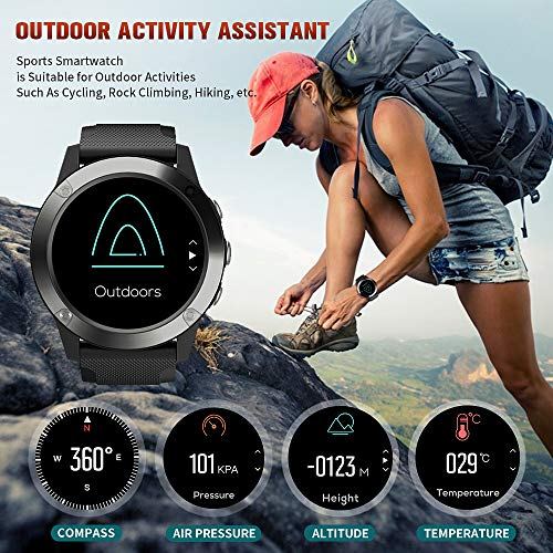 "Men's Smart Watch,Fitness Tracker with Heart Rate Monitor,Smartwatch for Men with Sleep Monitor Message Reminder,Activity Tracker with 1.3"" Touch Screen,IP67 Waterproof Smart Watch for Android and iOS - wiihuu"