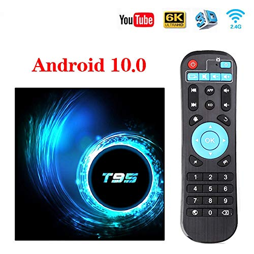DOOK Android 10.0 TV Box, T95 Android TV Box Allwinner H616 64-bit Quad core ARM Cortex-A53 CPU Smart tv Box Support 3D 4k Ultra HD 2.4/5.0GHz WiFi Ethernet 10/100M HDMI Output,32g - wiihuu