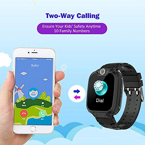 Kids Smart Watch for Boys Girls - HD Touch Screen Sports Smartwatch Phone with Call Camera Games Recorder Alarm Music Player for Children Teen Students - wiihuu
