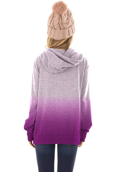 PRETTYGARDEN Women's Casual Solid Cowl Neck Long Sleeve Drawstring Pullover Sweatshirts Hoodie (A-Purple, 2X-Large) - wiihuu