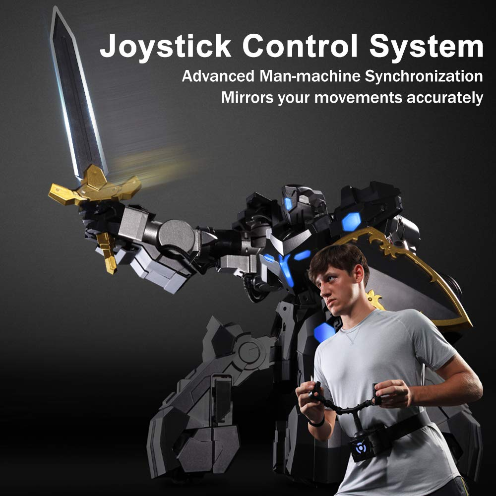 GANKER EX - Remote Control Robot, Battle Robot with Man-Machine Synchronization, Precise Omni-Directional Motion, Electronic Scoring System, App-Connected Gaming Robot Compatible with iOS & Android - wiihuu