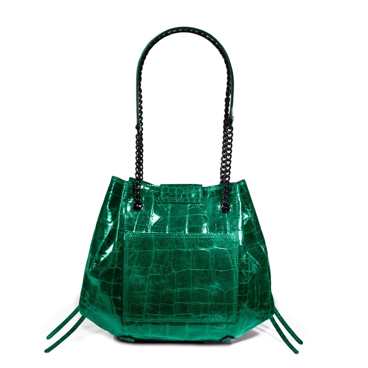 Eric Javits Luxury Fashion Designer Women's Handbag - Lil' Leigh - Emerald - wiihuu