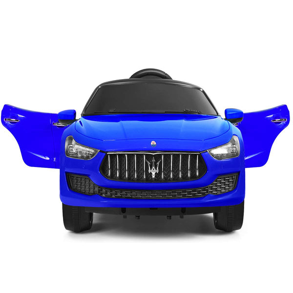 Costzon Ride on Car, Licensed Maserati Gbili 12V Rechargeable Battery Powered Electric Car w/ 2 Motors, Parental Remote Control & Manual Modes, LED Lights, MP3 (Blue) - wiihuu