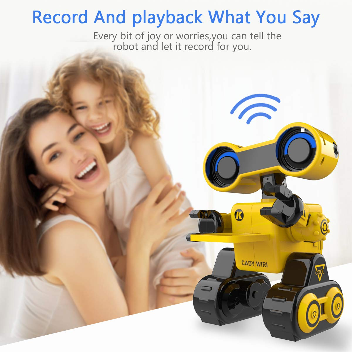 HBUDS Robot Toy Remote Voice Control, Programmable, Touch Sensing STEM Educational Robot Toy with Interactive Feature to Walk, Dance, Sing, Explore, Provide Science Lectures and Send Gifts to Kids - wiihuu