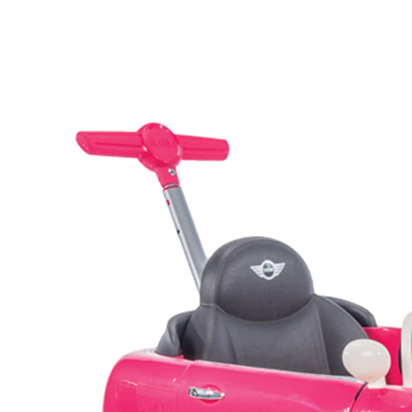 Huffy Mini Cooper for Kids Ride On Car W/ Push Stroller, Pink - wiihuu
