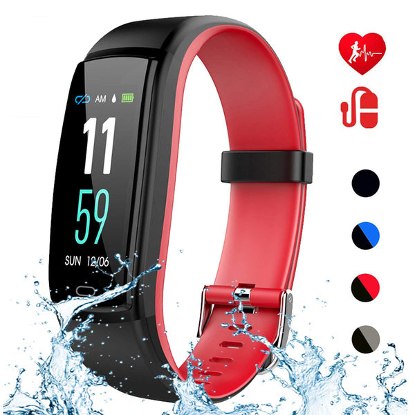 Mgaolo Fitness Tracker with Blood Pressure Heart Rate Sleep Monitor,IP68 Waterproof Activity Tracker Smart Watch with Pedometer Calorie Step Counter Compatible with iPhone and Android Phones (Red) - wiihuu