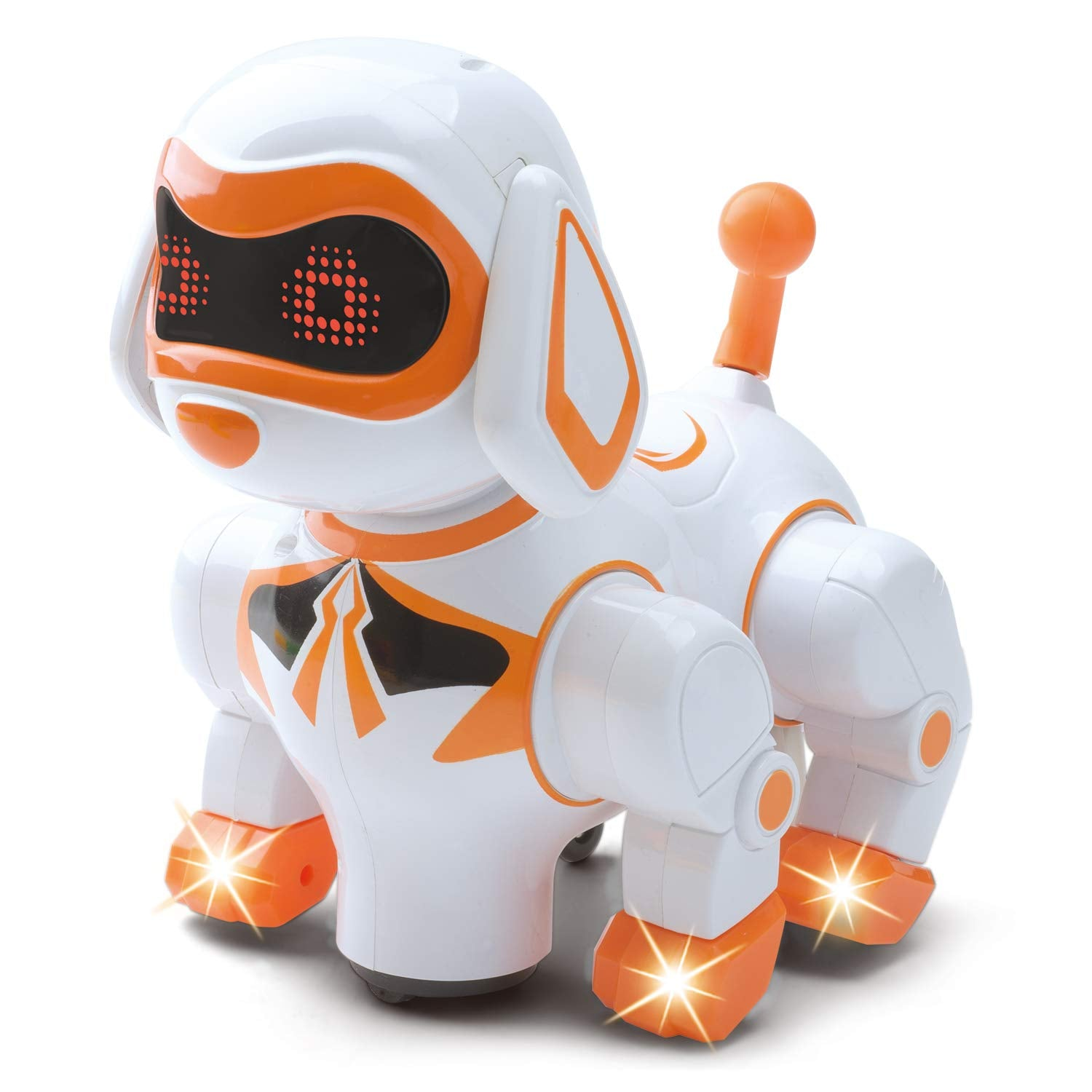 B/O Walking and Dancing Pet Robot Dog - Mechanical Dog Toy for Children, Supports Imaginative Play - Interactive Pet Robot Walks, Dances, Moves, Plays Sound Effects, Lights Up - Children Age 3+ Years - wiihuu