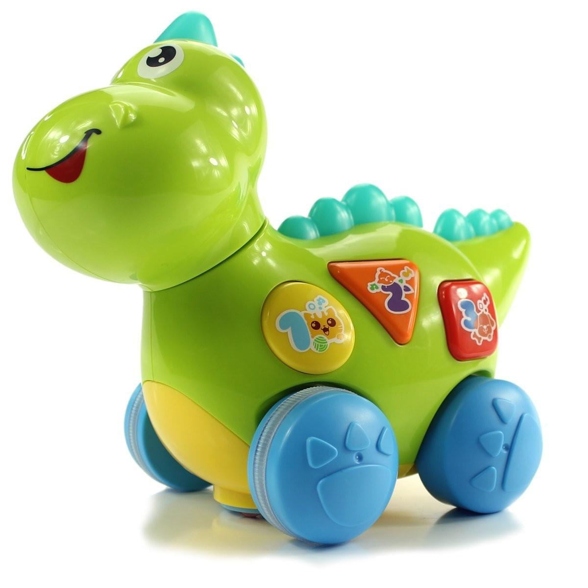 fisca Baby Toys Musical Walking Dinosaur for Babies & Toddlers, Preschool Learning Educational Toys with Lights and Music - wiihuu
