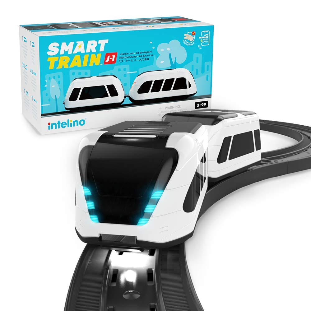 intelino J-1 Smart Train Starter Set - Screen-Free and App-Connected Play Modes - STEM Coding Toy - Ages 3+ - wiihuu
