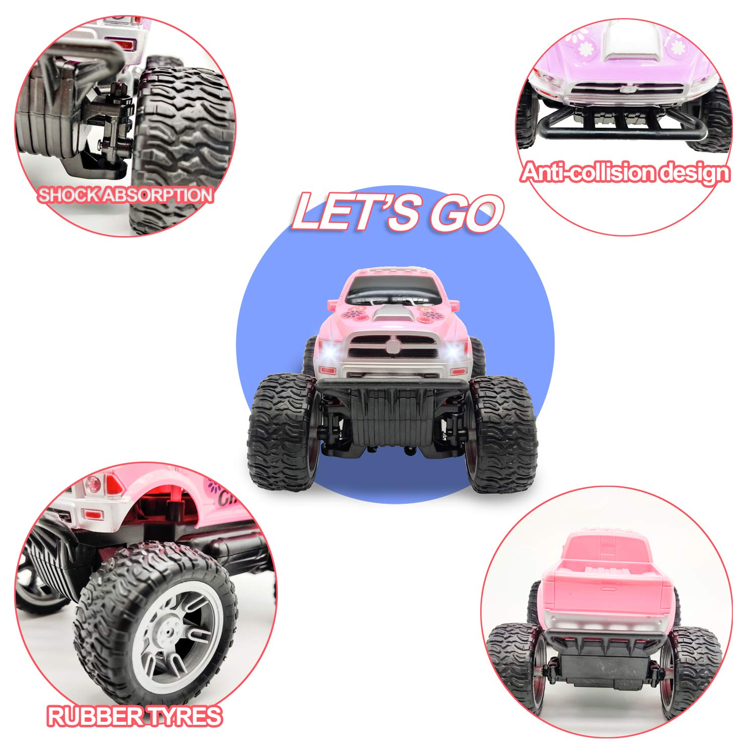 Pink Remote Control Jeep Car Toy for Girls Kids Toddlers Birthday Christmas Gifts - Great Toy RC Car for Girls - wiihuu