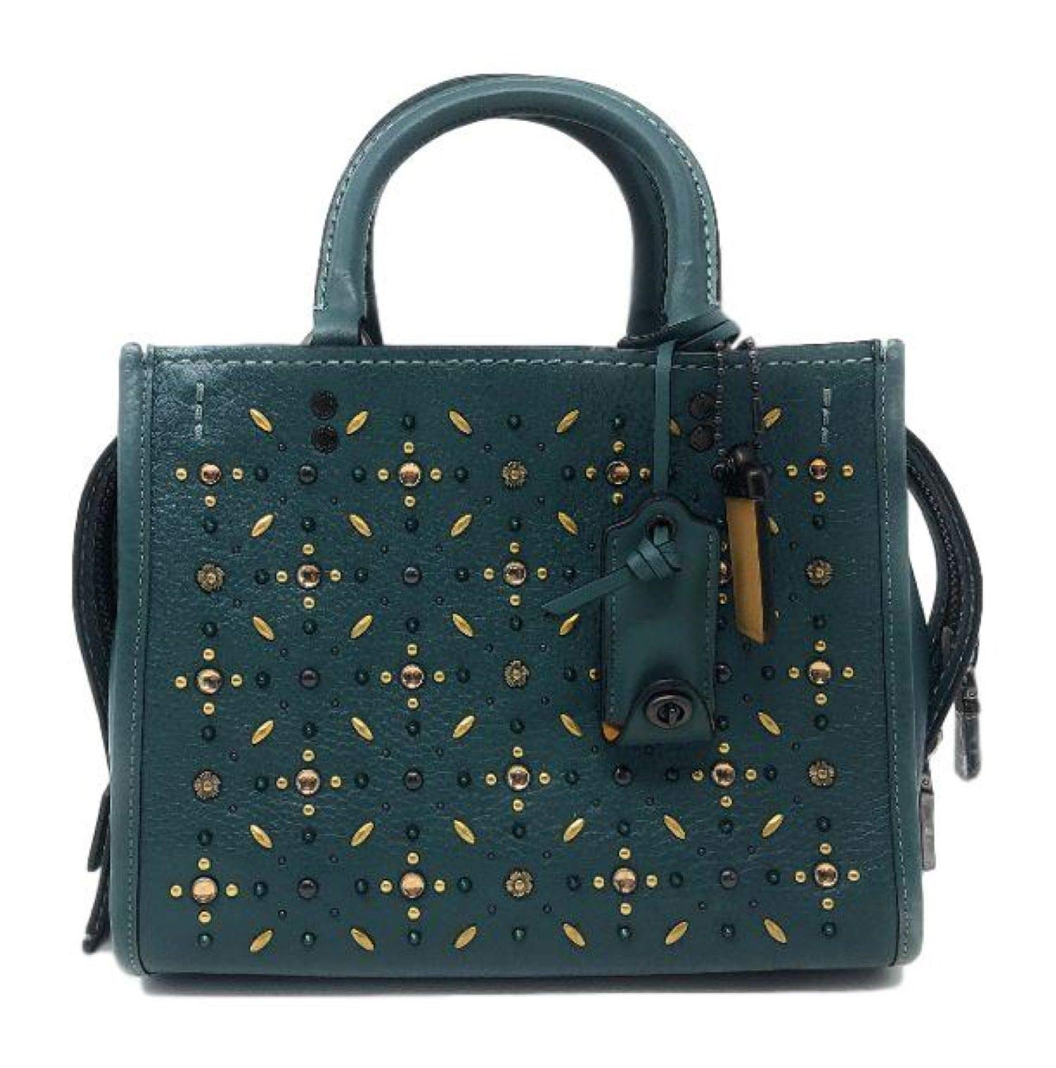 Coach 1941 Rogue 25 With Prairie Rivets BP/MIW Dark Turquoise - wiihuu