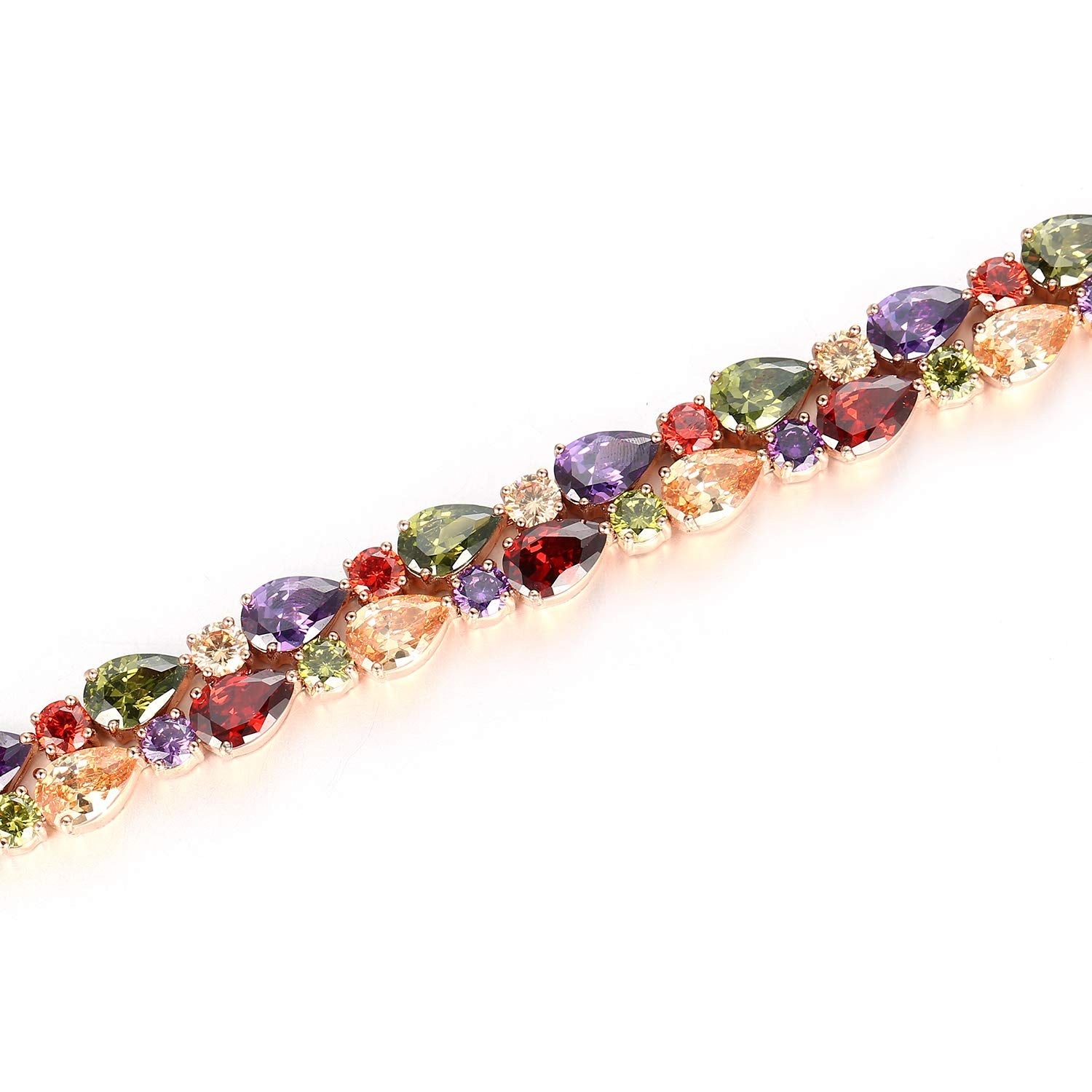 ELSAPELC Jewelry Beautiful Colorful Crystal Bracelet for Women Unique Valentine's Day Present Gifts for Women - wiihuu