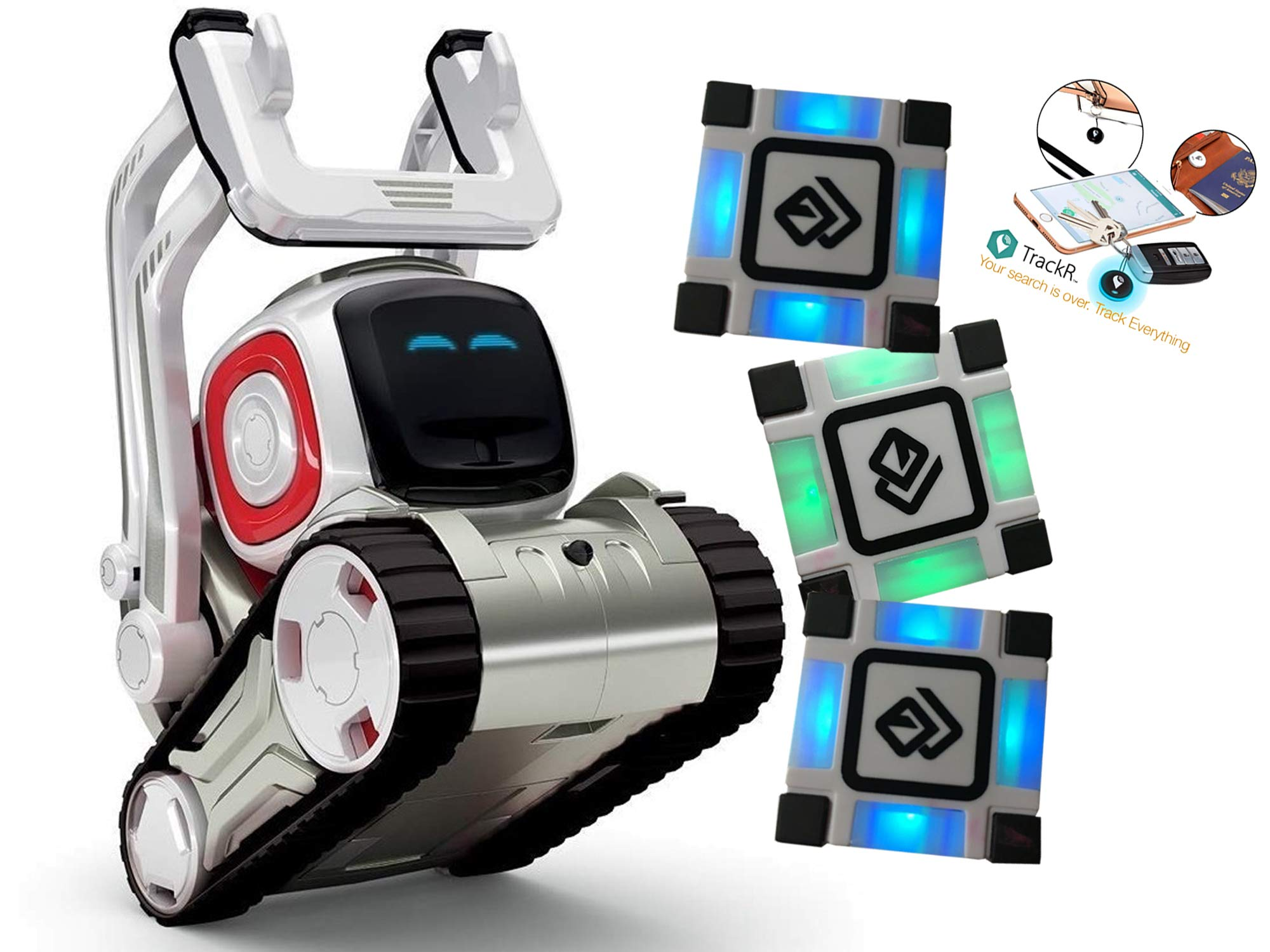 Anki Cozmo A Fun, Educational Toy Robot for Kids with 3 Cubes & Dock Item Tracker for Cozmo Kit - for Android & iOS Apple (Renewed) - wiihuu