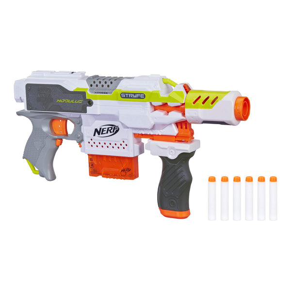 NERF Modulus Motorized Toy Blaster with Drop Grip, Barrel Extension, 6-Dart Clip, 6 Official Darts for Kids, Teens, & Adults (Amazon Exclusive) - wiihuu