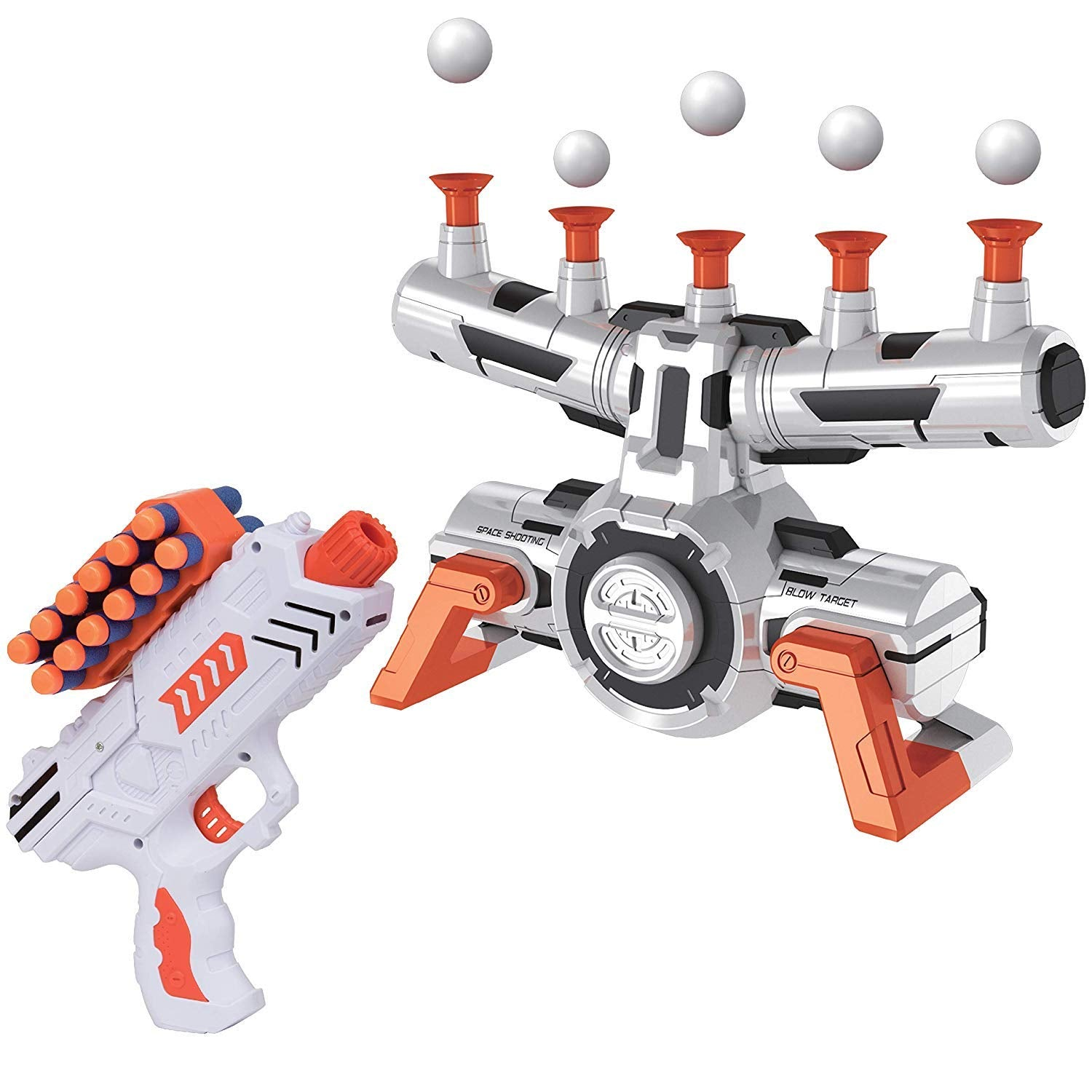 USA Toyz Compatible Nerf Targets for Shooting - AstroShot Zero G Floating Orbs Nerf Target Practice with Blaster Toy Guns for Boys or Girls and Foam Darts - wiihuu